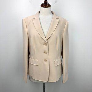 NWT Basler Cream Three Button Front Blazer Jacket